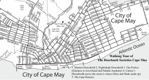 Walking tour map of Cape May